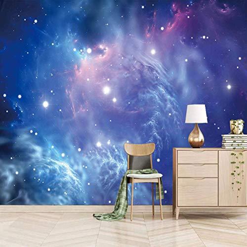 Msrahves Fotomurales decorativos Cielo azul estrellado universo Fotomurales 3D Foto-Mural Simplicidad Moderna Sala De Estar Dormitorio Oficina Tv Fondo Pared Decoración Fotomural Vinilo