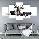Wuwenw Bilder Vlies Leinwandbild 5 Teilig Kunstdruck Modern Wandbilder Xxl Wanddekoration Design...