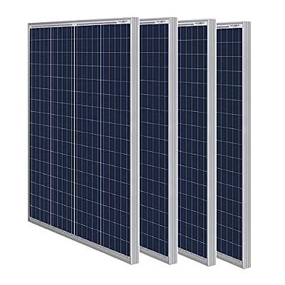 HQST 100, 150, 200, 400 Watt 12 Volt Solar Panel (4-Pack Solar Panels)