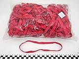 Progom - Gomas Elasticas - 200(ø127)mm x 10mm - rojo - bolsa de 1kg