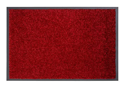ASTRA strapazierfähige Schmutzfangmatte Perle – rutschfeste Türmatte – Fußmatten für den Innenbereich – Eingangsmatten – Vorleger (rot, 40x60cm)