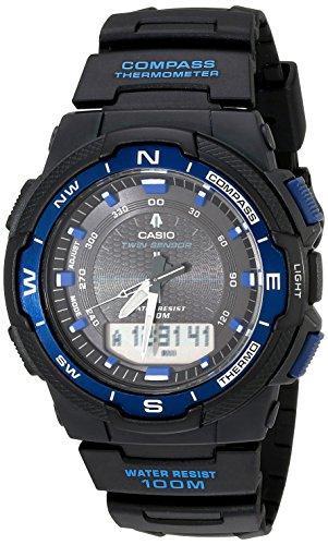 Casio Sports Japanese-Quartz Watch with Resin Strap, Black, 18 (Model: SGW500H-2BV)