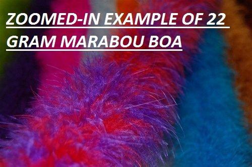 "Thin Marabou Feather Boa 2 Yards Long (72"") 15 Grams : Various Colors (Black)"