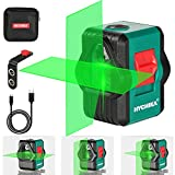 Laser Level, HYCHIKA 45M Self-Leveling Outdoor Green Laser Level, Two Modules, Line Cross / Horizontal / Vertical, USB Rechargeable, Magnetic Holder, Protective Case