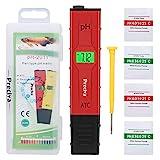 Medidores de pH,Preciva Medidor de Prueba de Calidad del Agua digital con Pantalla LCD...