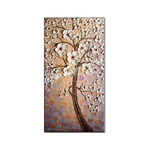 WSNDGWS Moderno Puro Pintado a Mano Abstracto Grueso Músculo Inferior Cuchillo Pintura Vertical Pintura al óleo Hotel Pintura Decorativa al óleo