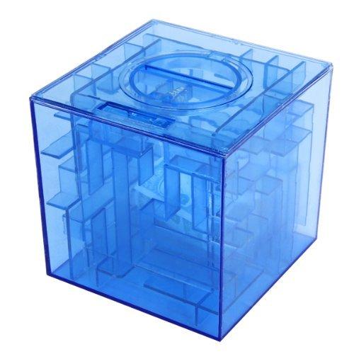 Uteruik geld doolhof munt bank 3D puzzel doos geschenkhouder prijs opslag, 1 stks