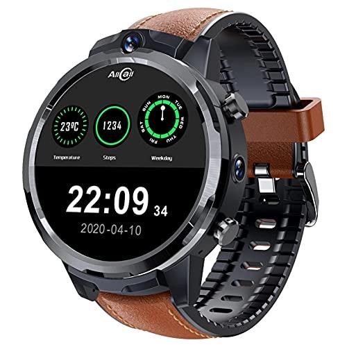 Business Fashion Smart Watch Men's 1.6 Pulgadas 4G 3GB 32GB Cara De Cara Cámara 1080Mah GPS Impermeable Deportes Damas Smartwatch,B