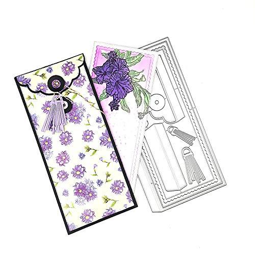 Alinacutle Slimline Card with Envelope Die Set, Paper Craft Metal Die-Cuts,Scrapbooking Cutting,DIY Card Metal Punch Template