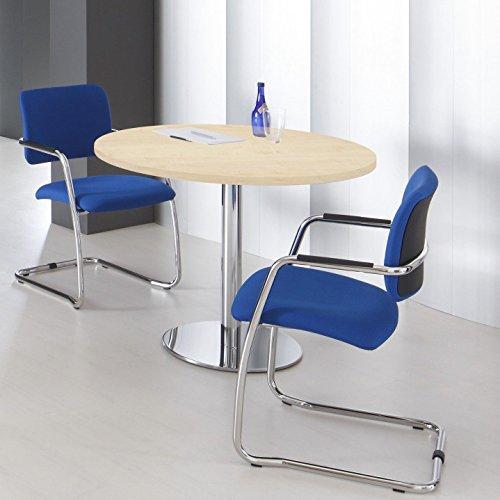 WeberBÜRO Optima ronde vergadertafel eettafel keukentafel tafel esdoorn rond Ø 100 cm