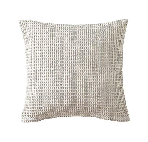 Blanc des Vosges Electre Housse et Coussin Coton Ficelle 45 x 45 cm