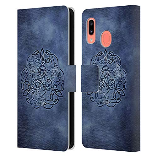 Head Case Designs Officially Licensed Brigid Ashwood Knot Raven Celtic Wisdom Leather Book Wallet Case Cover Compatible with Samsung Galaxy A20 / A30 2019