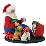 Department 56 Possible Dreams Santa and his Pets Foodies Figurine, 8 Inch, Multicolor