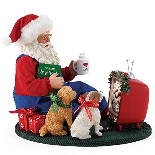 Department 56 Possible Dreams Santa and his Pets Foodies Figurine, 8 Inch, Multicolor