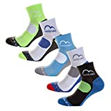 More Mile London (5 Pair Pack) Mens Cushioned <span class='highlight'>Running</span> Socks, Multi-coloured, UK 8.5-10.5