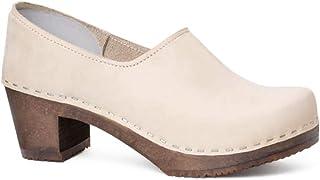 Sandgrens Swedish High Heel Wooden Clogs for Women | Bridget