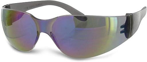 Radians Rainbow Mirror Safety Glasses, Scratch-Resistant, Wraparound