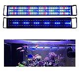 KZKR Upgraded Aquarium LED Light Full Spectrum 30-36 inch Hood Lamp for Freshwater Marine Plant Multi-Color Decorations Light 78-90 cm