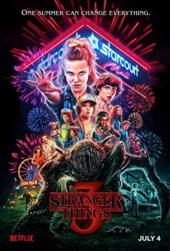 Stranger Things IT-00025 Lot de 3 posters en papier peint mat 28 x 43 cm