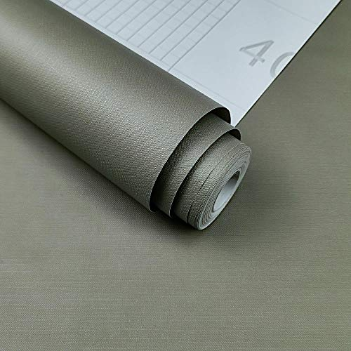 Waterproof self-Adhesive Wallpaper, Dormitory Hotel Cafe PVC Thick Wall Contact Paper, Modern Bedroom Background Wall Warm Sticky Note 60x1000cm-Dark Gray_24x394IN/60x1000cm