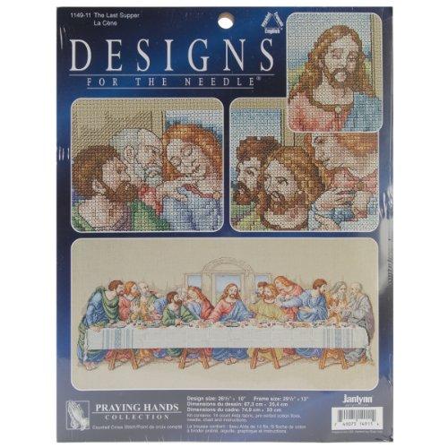 Janlynn Cross Stitch Kit, 10-Inch by 26-1/2-Inch, The Last Supper
