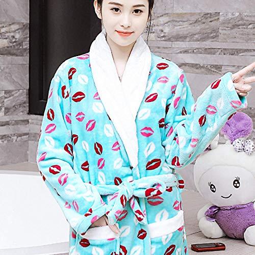 Liuting herfst- en winterjas, gevoerde pyjama van fleece, comfortabel en zacht