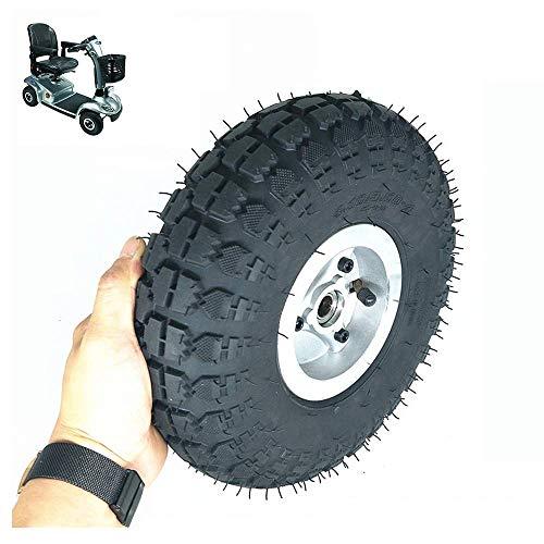 BABYCOW Neumáticos Scooter eléctrico, Ruedas 4.10-3.50-4, neumáticos neumáticos Antideslizantes Resistentes al Desgaste, Ruedas aleación Aluminio, Uso común 3.00-4 / 260x85