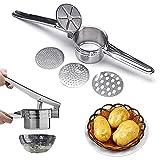 WLHER Prensa de Patatas, trituradora de Frutas y Verduras de Gran Capacidad 100% Acero Inoxidable, trituradora de Patatas para Frutas, Verduras, Robusta, higiénica y fácil de Limpiar