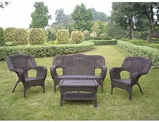International Caravan 3180-AP-IC Furniture Piece Four Maui Outdoor Seating Group