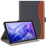 ZtotopCase Funda para Samsung Galaxy Tab A7 10.4 2020, Funda Protectora de Cuero PU Ranura para Tarjetas y Banda elástica para Samsung Galaxy Tab A7 SM-T500/T505 /T507,Denim Negro