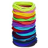 100 Pezzi Fasce Elastici per Capelli Legami Coda di Cavallo Capelli Bande Massa (Multicolore)
