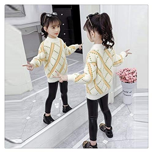MISSLIU Ropa De Otoño Suéter para Niñas Más Engrosamiento Informal para Niños Ropa De Otoño E Invierno Camisa De Fondo De Terciopelo De Visón para Niña (Color : Beige, Size : 3T)
