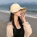 LDDENDP Sombrero Mujer Verano Cielo Visera solar Protección UV Tapa protectora al aire libre con cubierta para el cuello, Sombrero para el sol de ala ancha ajustable Adecuado para viajes Camping, Send