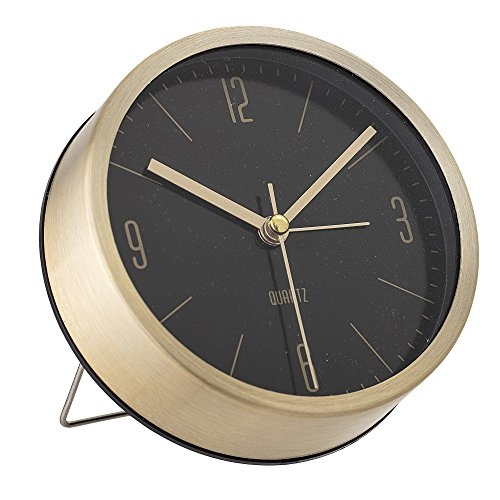 Bloomingville Horloge de table, Doré, Aluminium