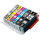 CANON ( キャノン ) 371 370 6色パック大容量【 BCI-370XL BK 】+【 BCI-371XL BK / C / M / Y / GY 】ICチップ残量表示検知機能付き Mt.Smile製 純正 互換 インク カートリッジ 370XL 371XL BCI-370 BCI-371 【365日保証】サービス