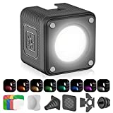 ULANZI LED Video Light Waterproof IP68 Camera Lighting Kit Mini Cube with 8 Color Gel Filters, Dimmable Portable Fill Photography Light 5500K CRI95+ for DSLR Camera Sony Canon Nikon GoPro Drones