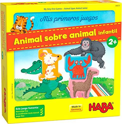 HABA 306073 - Mis Primeros Juegos – Animal sobre Animal, clásico Juego de apilamiento. Más 2 años