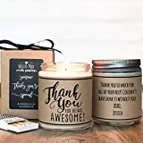 Thank you For Being Awesome - Thank You Gift, Appreciation Gift, Soy Candle Gift