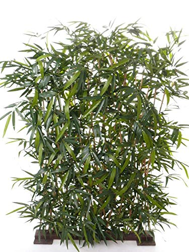 artplants.de Seto de bambú sintético Hiyori, para Zonas semiprotegidas, Verde, 170cm - Arbusto Artificial - Bambú de plástico