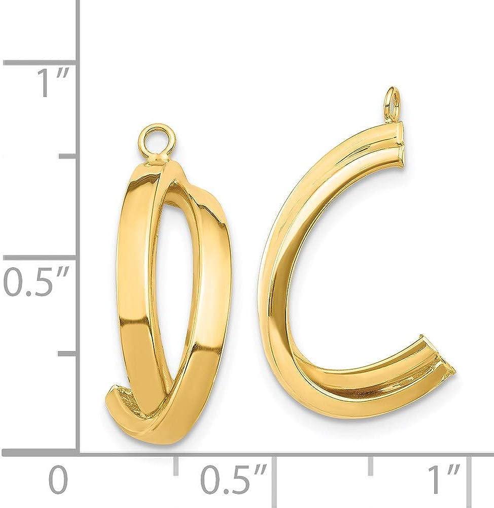 14K Dangle Earring Jacket 21.84mm 7.37mm style YE1832