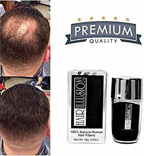 Hair Illusion – 100% Natura Reall Human Hair FibersNot Synthetic For Men &..