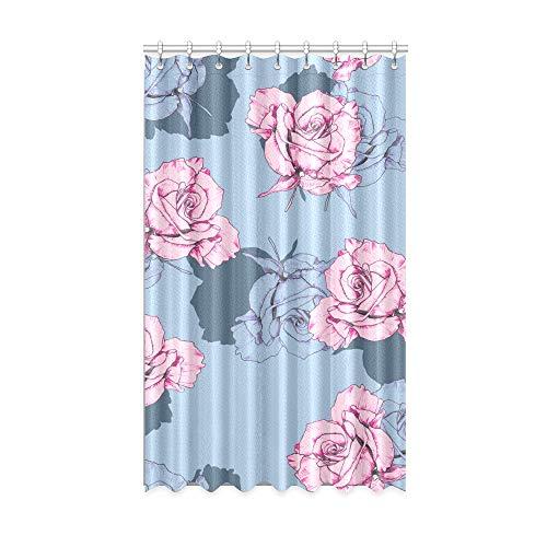 N\A Innenfenster Vorhang Rosa Rose Elegante Blumen Mädchen Verdunkelungsvorhänge 50 x 84 Zoll EIN Stück für Patio Glasschiebetür/Schlafzimmer