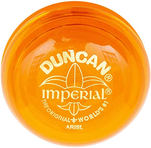 Duncan Toys Imperial Yo-Yo, Beginner Yo-Yo with String, Steel Axle and Plastic Body, Orange