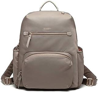 ZNBJBB Backpack Female New Fashion Computer Bag Female Large Capacity Nylon Oxford Cloth Super Fire Backpack (Color : Gra...