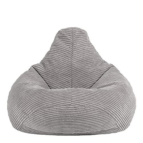 "Icon Sitzsack-Sessel ""Dalton"" für Kinder, Cord, Sitzsäcke für Kinder, Sitzsäcke für das Wohnzimmer, Gaming-Sitzsäcke"