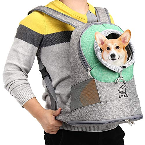DW Dog Carrier Backpack Comfortable Sling Dog Carriers,Puppy Pet Front Carrier,Suitable for Hiking and Outdoor Travel