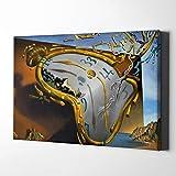 Impresión sobre lienzo surrealista, arte para pared, famoso óleo, la persistencia de la memoria, póster vintage de Salvador Dalí, cuadros para decoración del hogar