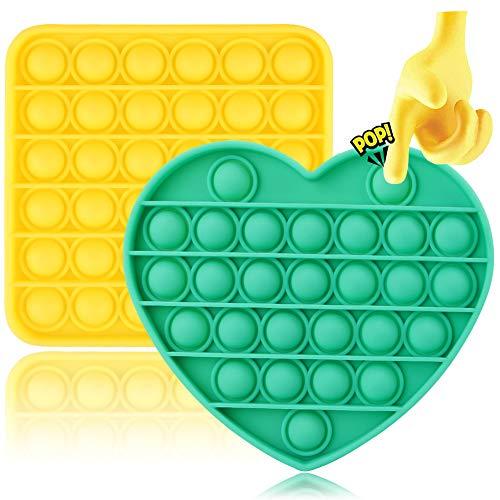 Juego de juguetes sensoriales,2 Push Bubble Sensory Fidget Toy Empuje Burbuja Fidget Juguete sensorial Autismo Necesidades especiales Alivio del estrés