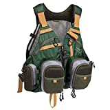 Bassdash Strap Fishing Vest Adjustable for Men and Women, for Fly Bass Fishing...