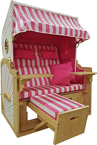 Strandkorb der Extraklasse mit Bullaugen Modell Pretty in Pink Breite 135 cm